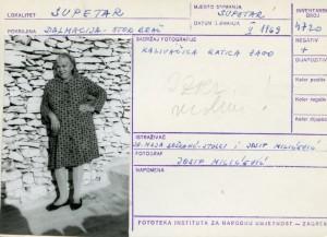 Etnološka i folklorna građa otoka Brača, 1969. Kazivačica Katica Zago