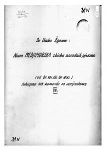 Hrvatske pučke popijevke iz Međimurja, sv. VII., 1947/48.