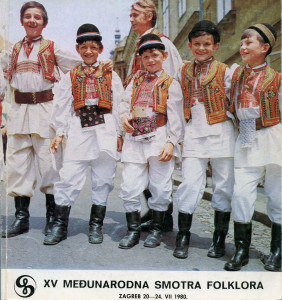 XV Međunarodna smotra folklora : Zagreb, 20 - 24. VII 1980.