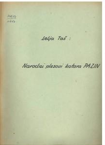 Narodni plesovi kotara Pazin