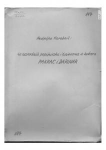 Narodne popijevke i 6 pjesama iz kotara Pakrac i Daruvar, 1951.