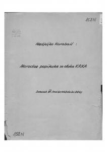 Narodne popijevke s otoka Krka, sv. VI., (ONŽO NZ 73 f), 1946- 1953.