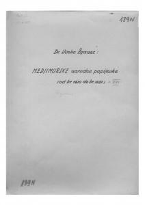 Hrvatske pučke popijevke iz Međimurja, sv. XVII., 1952;