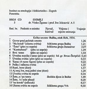 Smotra folklora u Baški na otoku Krku, 1954.