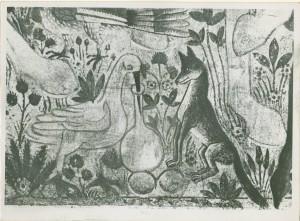 Lisica i roda (dio freske)