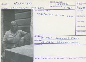 Kazivačica Katica Zago.
