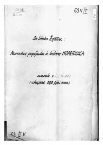 Narodne popijevke iz kotara Koprivnica, sv. I.-II., 1947;