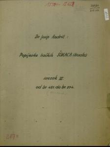 Popijevke bačkih Šokaca (Hrvata), sv. III., 1950, (ONŽO NZ 70 a-i).