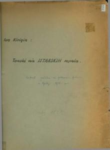 Tonski niz istarskih sopela. Referat pročitan na folklornom festivalu u Opatiji 1951. g.