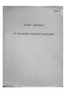 45 slavonskih narodnih popijevaka, (ONŽO NZ 19), 1949.