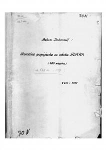 Narodne popijevke sa otoka Hvara, 1949.