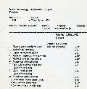 Smotra folklora u Otočcu, 1955.