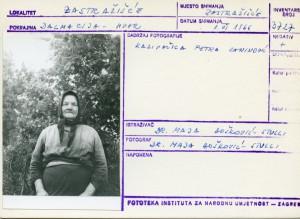 Kazivačica Petra Zaninović.