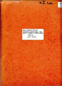 Narodne pripovijetke, predaje i pjesme s otoka Hvara, 1966.: sv. II. (1. dio)