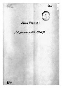 Pet pjesama iz Hrvatskog Zagorja, 1882