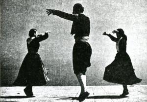 Narodni ples linđo: Grupa iz sela Doli izvodi poskočicu, figuru