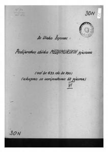 Hrvatske pučke popijevke iz Međimurja, sv. VI., 1946.