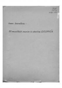 25 muzičkih zapisa iz okolice Gospića, 1955.