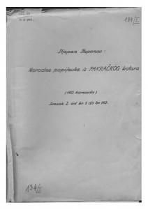Narodne popijevke iz pakračkog kotara, sv. I. i II., 1951.