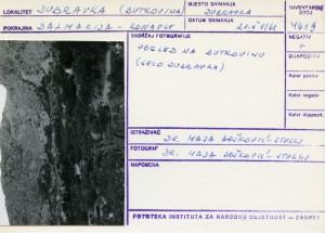 Folklorna građa iz Konavala 2, 1961.: Pogled na selo Butkovinu (selo Dubravka).