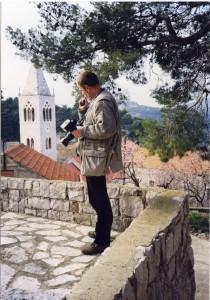 Lastovo - poklade,15. 02. 1999.Ivan Lozica na terenu, Lastovo