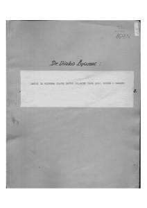 Zapisi sa priprema Smotre Seljačke sloge 1952. u Zagrebu.