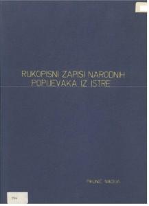 Karabaićevi zapisi narodne muzike iz južne, jugoistočne i srednje Istre, 1968.