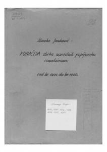 Narodne popijevke  1201 - 1400.
