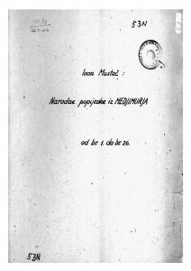 Narodne popijevke iz Međimurja, 1934.