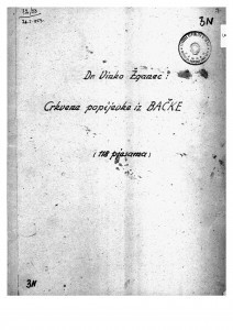 Crkvene popijevke iz Bačke, 1900, 1934- 1940.