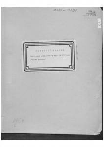 Narodne popijevke iz Bijelih Stijena (kotar Pakrac), 1951.