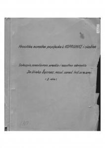 Redigirana koprivnička zbirka za štampu. Sv. I. i II.