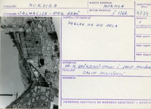 Etnološka i folklorna građa otoka Brača, 1969. Pogled na dio sela.