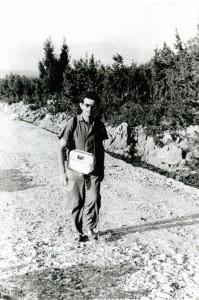 Jerko Bezić na terenu kao asistent zadarskog Instituta JAZU 1961.