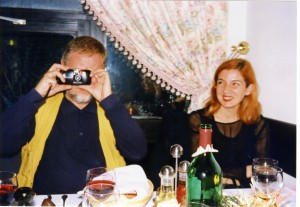 Gdje počinje Mediteran? Mediteranska antropologija iz  lokalnih perspektiva. Zagreb - Krk, 8.-11.10.1998.  Izlet na otok Krk, 10.-11.10. U restoranu (Ivan Lozica i Suzana Marjanić).