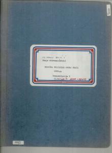 Muzička tradicija otoka Brača, 1969.: 1. Transkribirane melodije - note, sv. I.