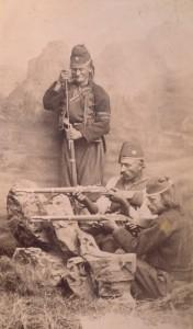 Fotografije nošnji. Hercegovci, vojnici.