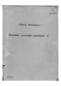 Hrvatske narodne popijevke, sv. I. i II., 1938- 1940. Prijepis.