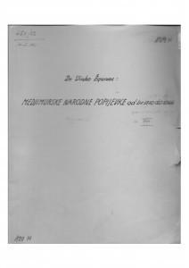Hrvatske pučke popijevke iz Međimurja, sv. XVI., 1952.
