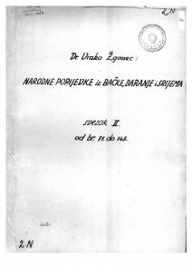 Narodne popijevke iz Bačke, Baranje i Srijema, 1932- 1938. Sv. II.