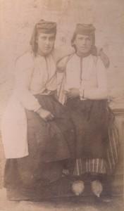 Fotografije nošnji. Crnogorci, seljanke.