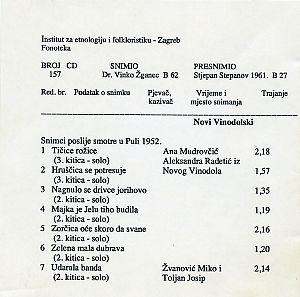Snimci poslije smotre u Puli 1952.