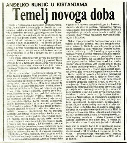 Dan ustanka 1989. - Temelj novoga doba