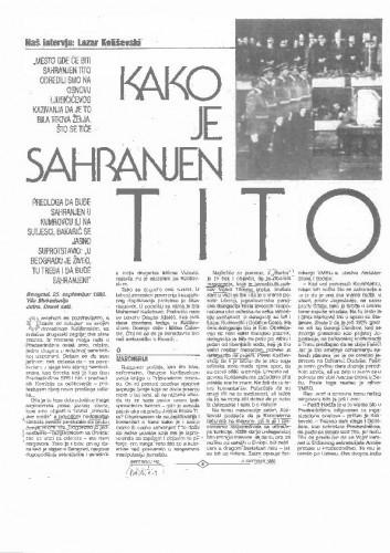 Kako je sahranjen Tito