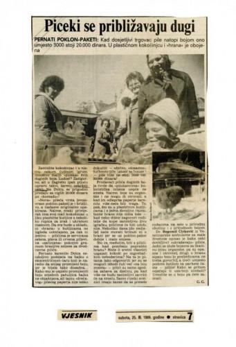 Uskrs 1989. - Bojanje pilića (hemeroteka)