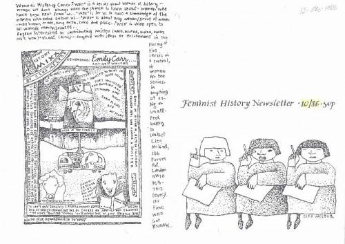 Feminist History Newsletter 10/1986.