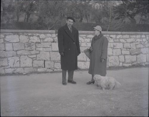 Istraživač Nikola Bonifačić Rožin na terenu, 1964.