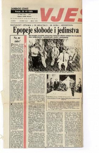 Dan ustanka 1989. - Epopeje sloboda i jedinstva