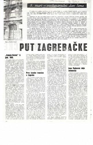 Put zagrebačke žene do socijalizma