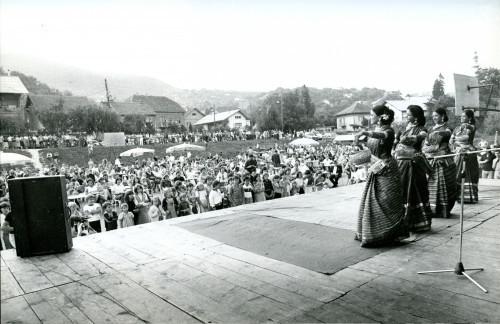 14. međunarodna smotra folklora u Zagrebu, 1979.: Nastup grupe iz Bangladeša u Markuševcu.